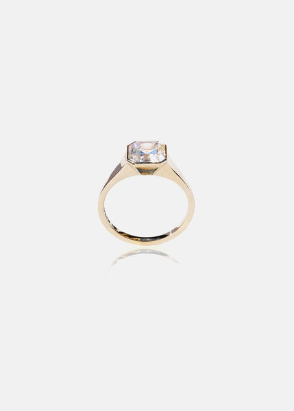 Asscher Diamond Cosma Ring