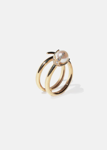 Pearl Crescendo Ring