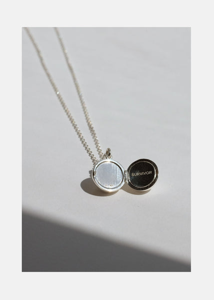 Boob Locket Necklace Silver