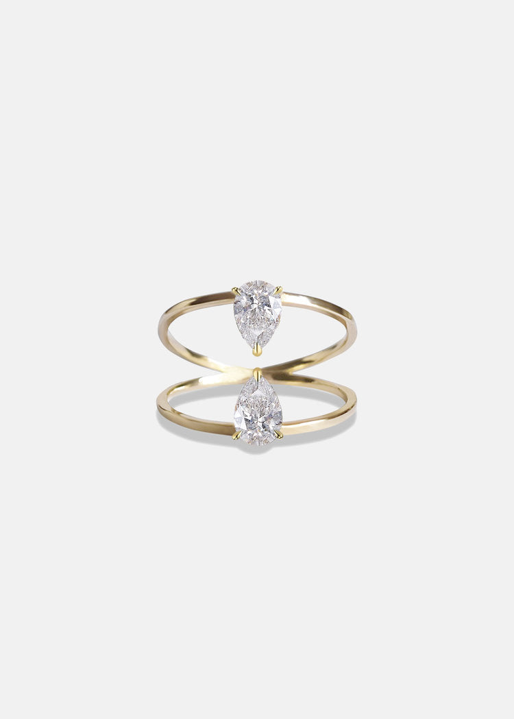 Duét Pear Ring