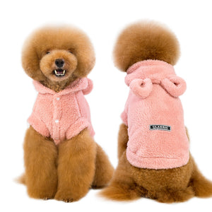 Pet Artist Warm 100% Cotten Terry Cloth Jacket