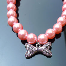 Load image into Gallery viewer, Pet Rhinestone Pearl Diamond Pendant Necklace For Small Dogs/Cats