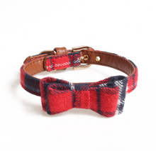 Load image into Gallery viewer, Plaid Bow Tie/Triangle Collar