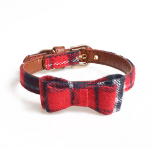 Plaid Bow Tie/Triangle Collar