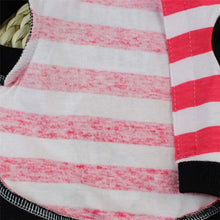 Load image into Gallery viewer, Cute Striped Pet Hooded Shirt