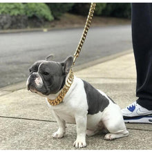 Load image into Gallery viewer, 14K PVD Gold Plate Kilo Cuban Link Collar and Leash