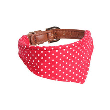 Load image into Gallery viewer, Polka Dot Small Dog Collar Bandana/Bow Tie and Leash