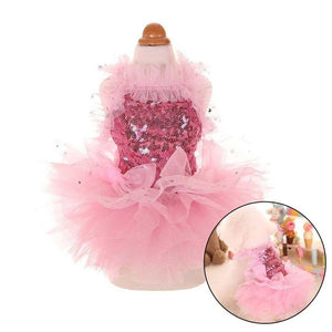 Pink Sequins  Pet Dress