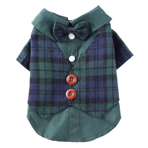 Formal Dress Shirt/Vest with Bowtie For Small Dogs/Cats