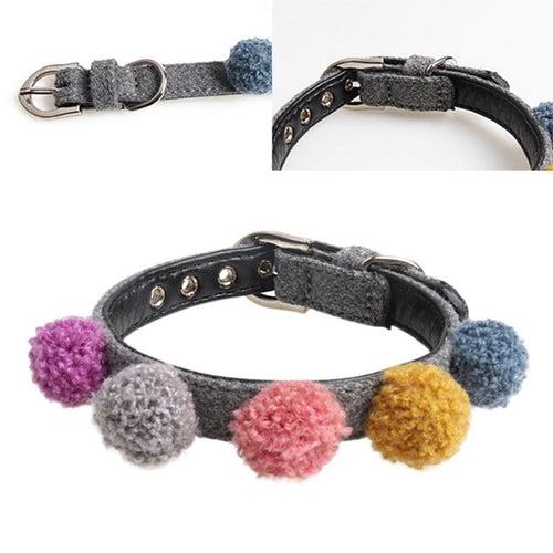 Colorful Pom Pom Pet Collar