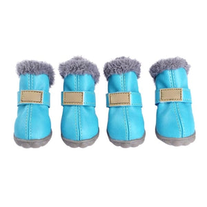 4pcs Waterproof Warm Dog Shoes