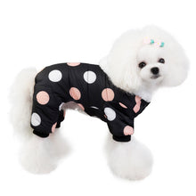 Load image into Gallery viewer, Large Polka Dot Pattern Warm Winter Jacket