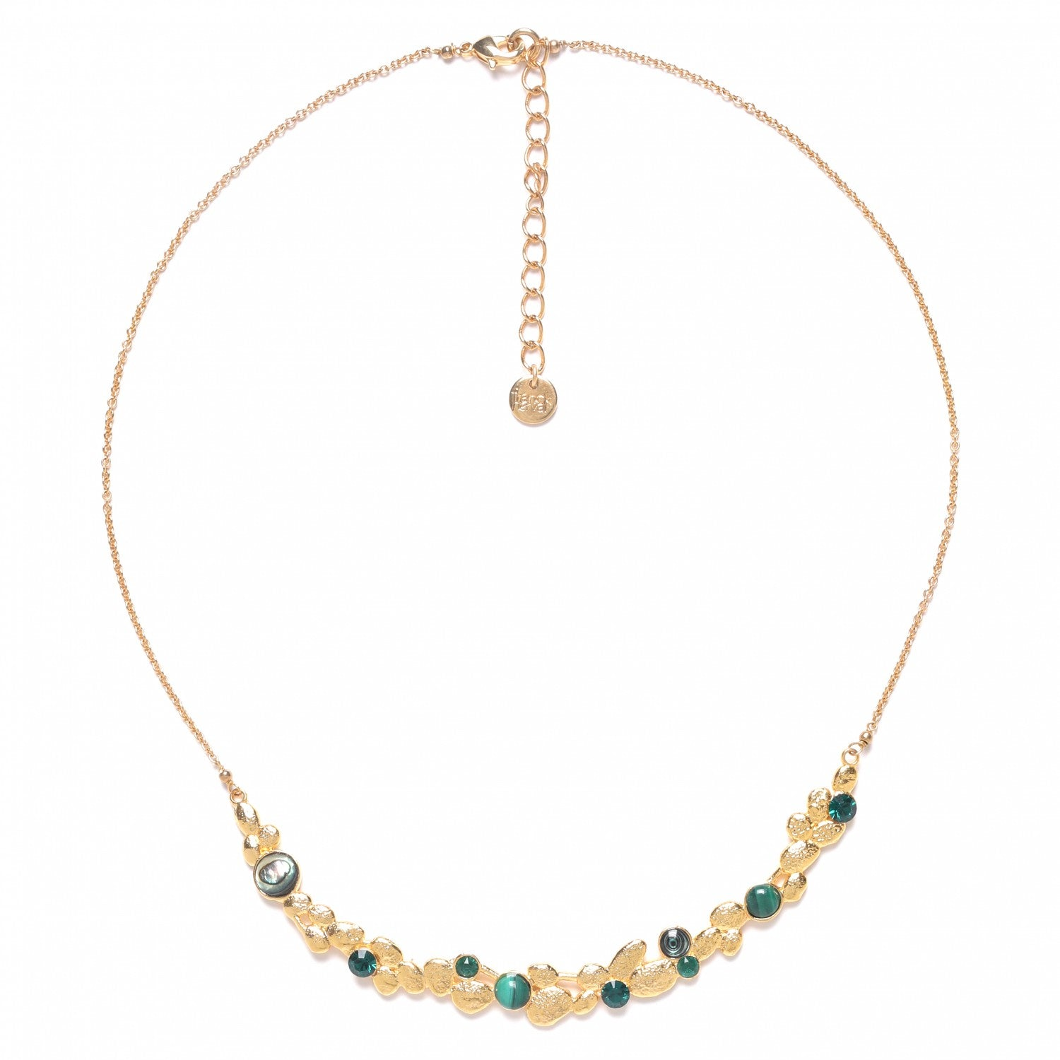 Becky Necklace | Short Arc (Green)