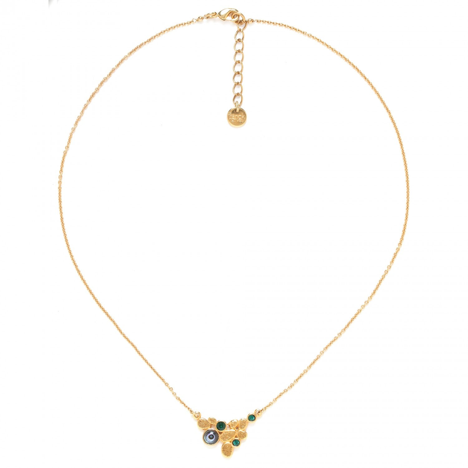 Becky Necklace | Thin Chain (Green)