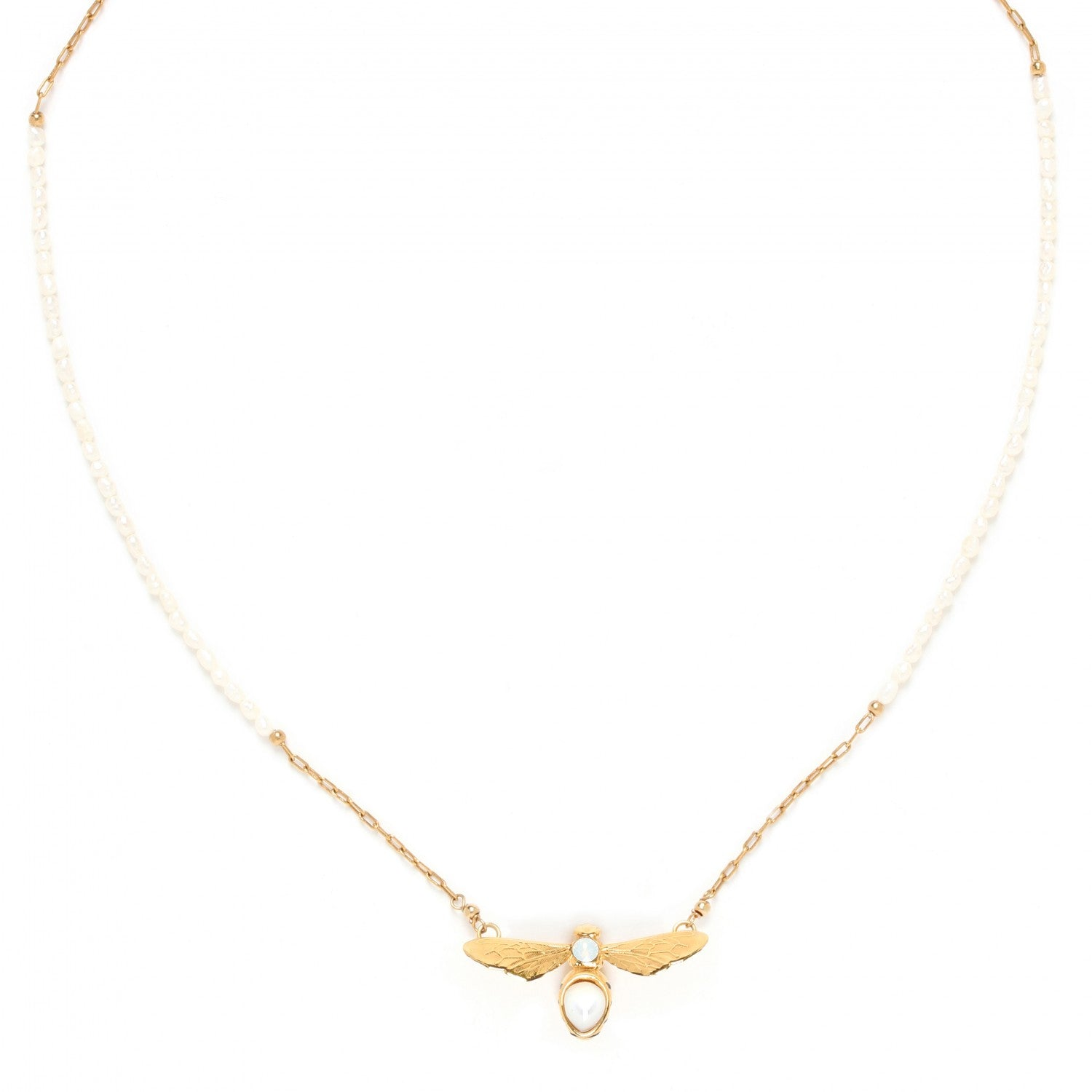 Abelha Necklace | Bee with Pearls