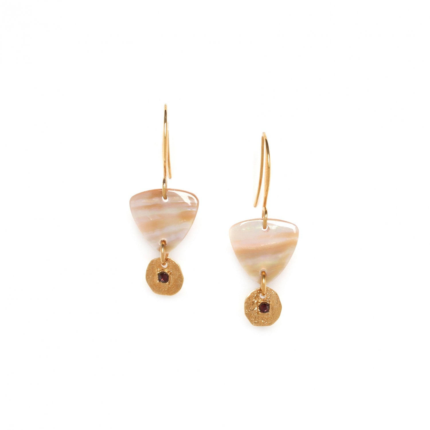 Coralie Earring | Triangular Shell on Hook