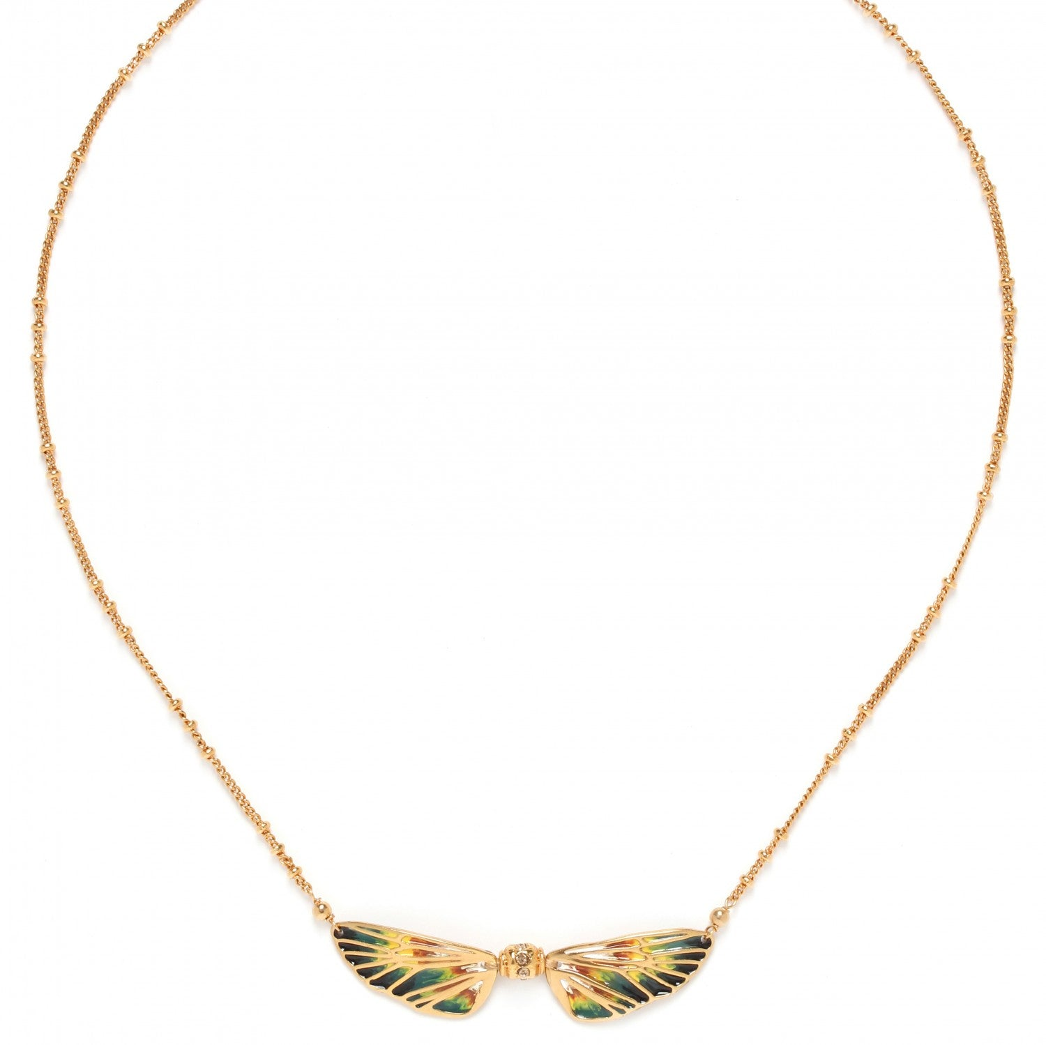 Lilybelle Necklace | 2 Wings (Yellow)