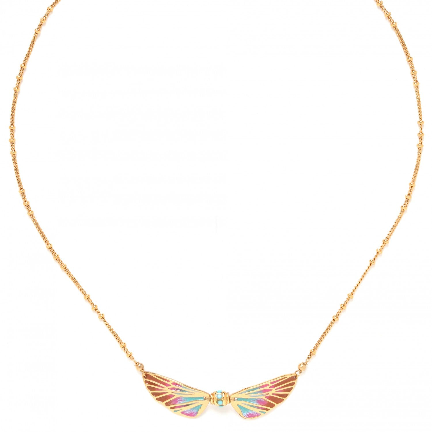 Lilybelle Necklace | 2 Wings (Pastel)