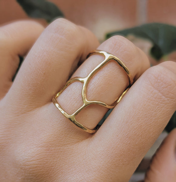 Large Open Brass Ring