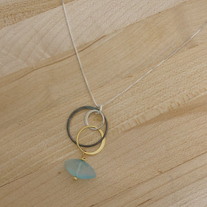 Avery Necklace- Aqua Chalcedony