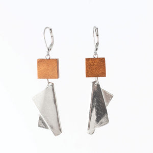 Nikita Earring- Wood