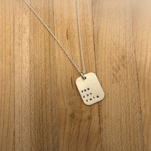 Mod Square Necklace- You Got This