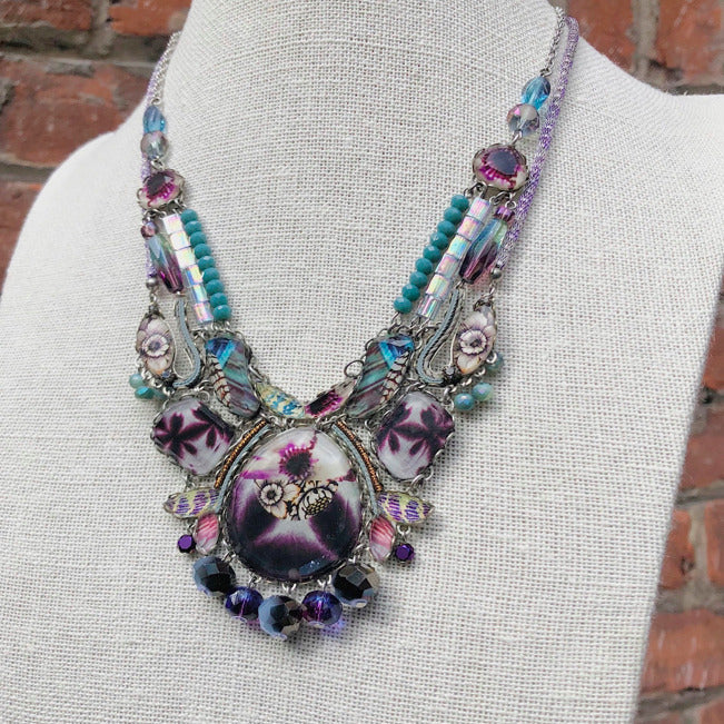 Purple And Blue Statement Collar