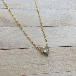 Gold Tiny Labradorite Necklace