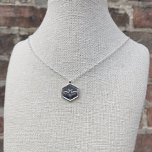 Load image into Gallery viewer, Bee Hex Necklace | Shiny Silver