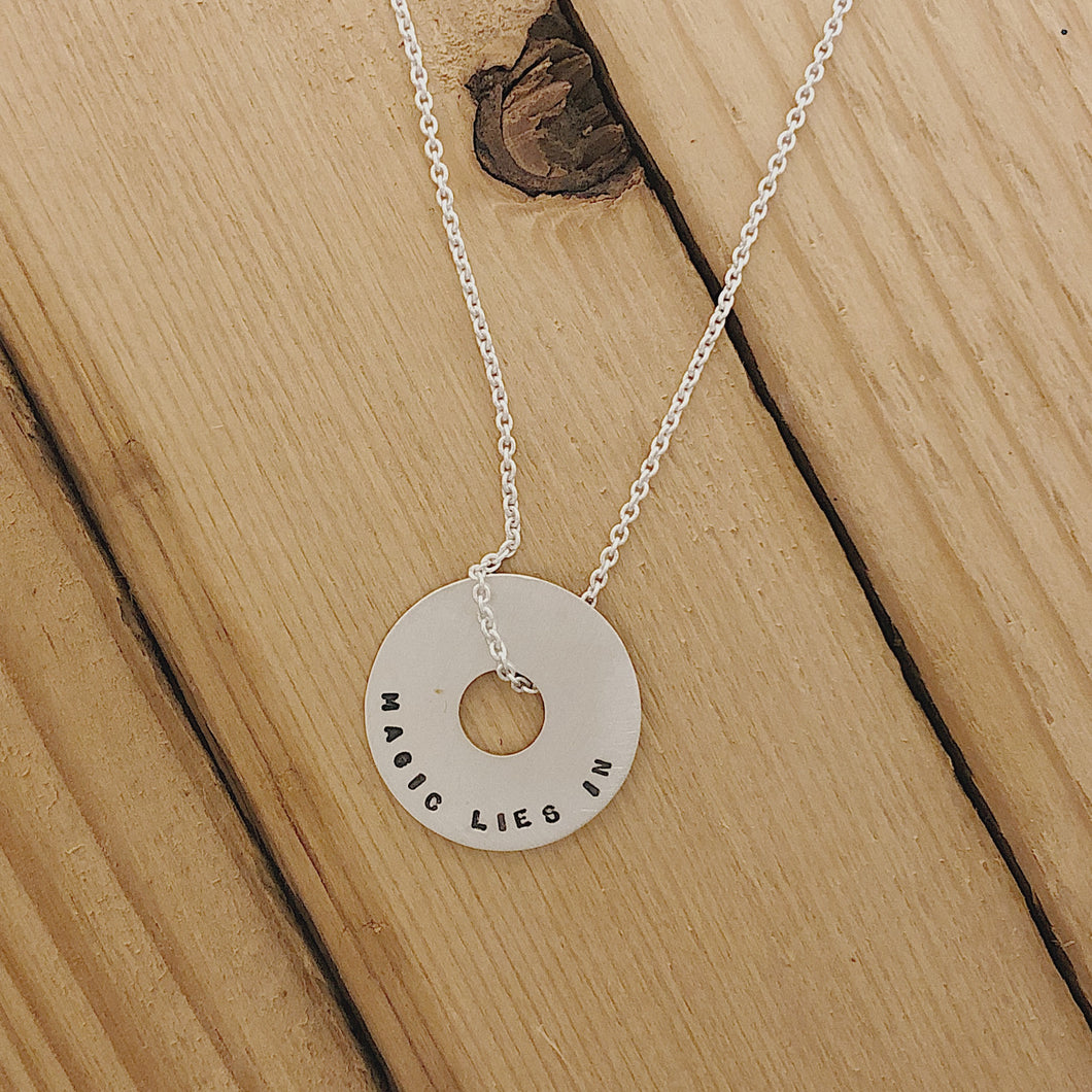 Magic Lies In All Of Us | Small Halo Necklace 18