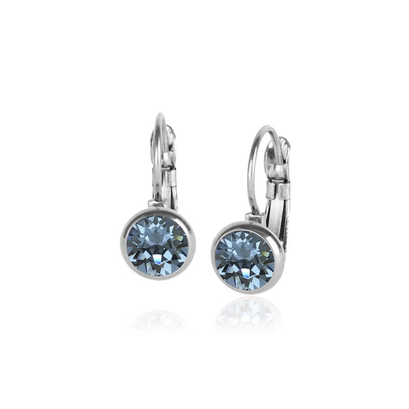 Classic Crystal Drop | Indian Sapphire / Silver