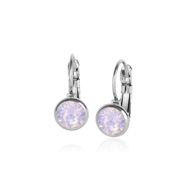 Classic Crystal Drop | Pink Opal / Silver