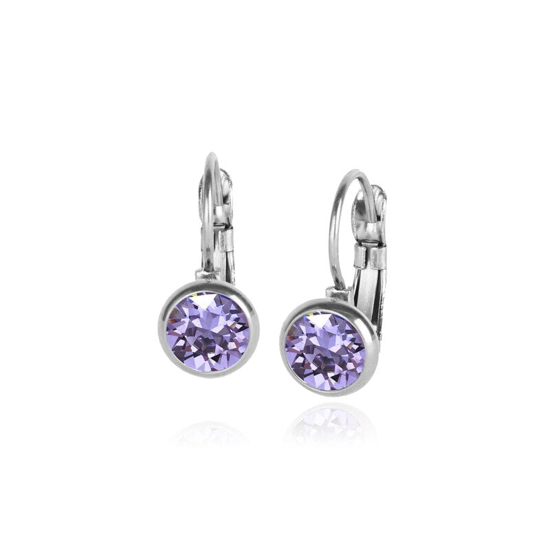 Classic Crystal Drop | Violet / Silver