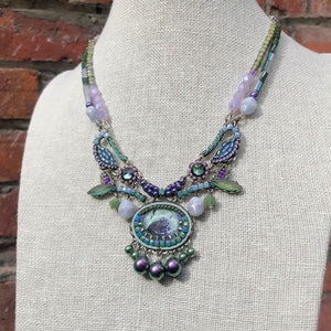 Lilac and Sage Green Collar