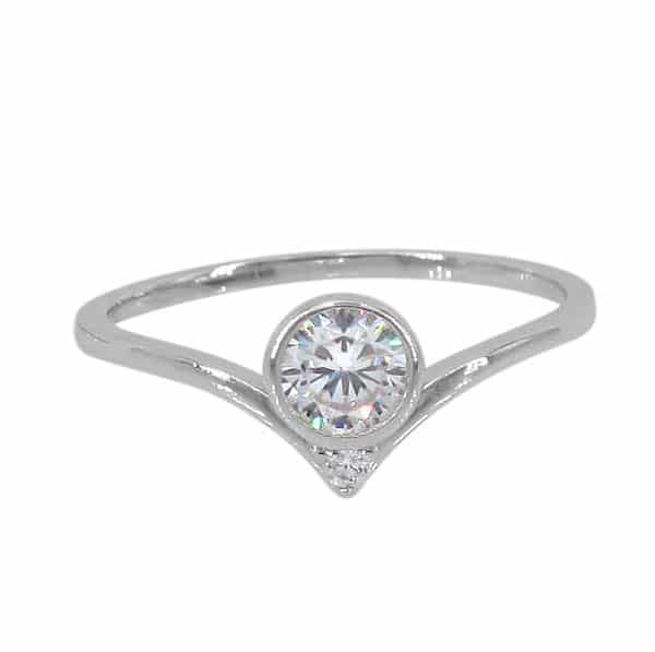 CZ Circle Stacker Ring