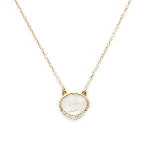 Gold Anni Necklace | Moonstone