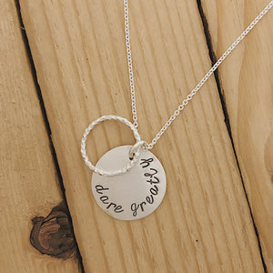 Dare Greatly | Stardusted Circle Necklace 18""