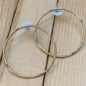 Large Brass Starlight Circle Studs