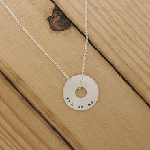 Load image into Gallery viewer, Magic Lies In All Of Us | Small Halo Necklace 18""