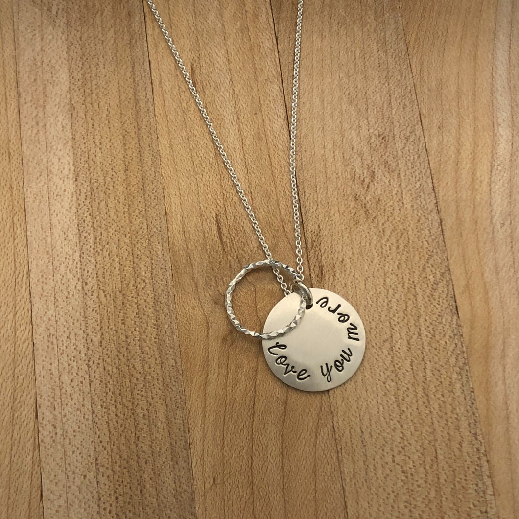 Stardusted Circle Necklace- Love You More