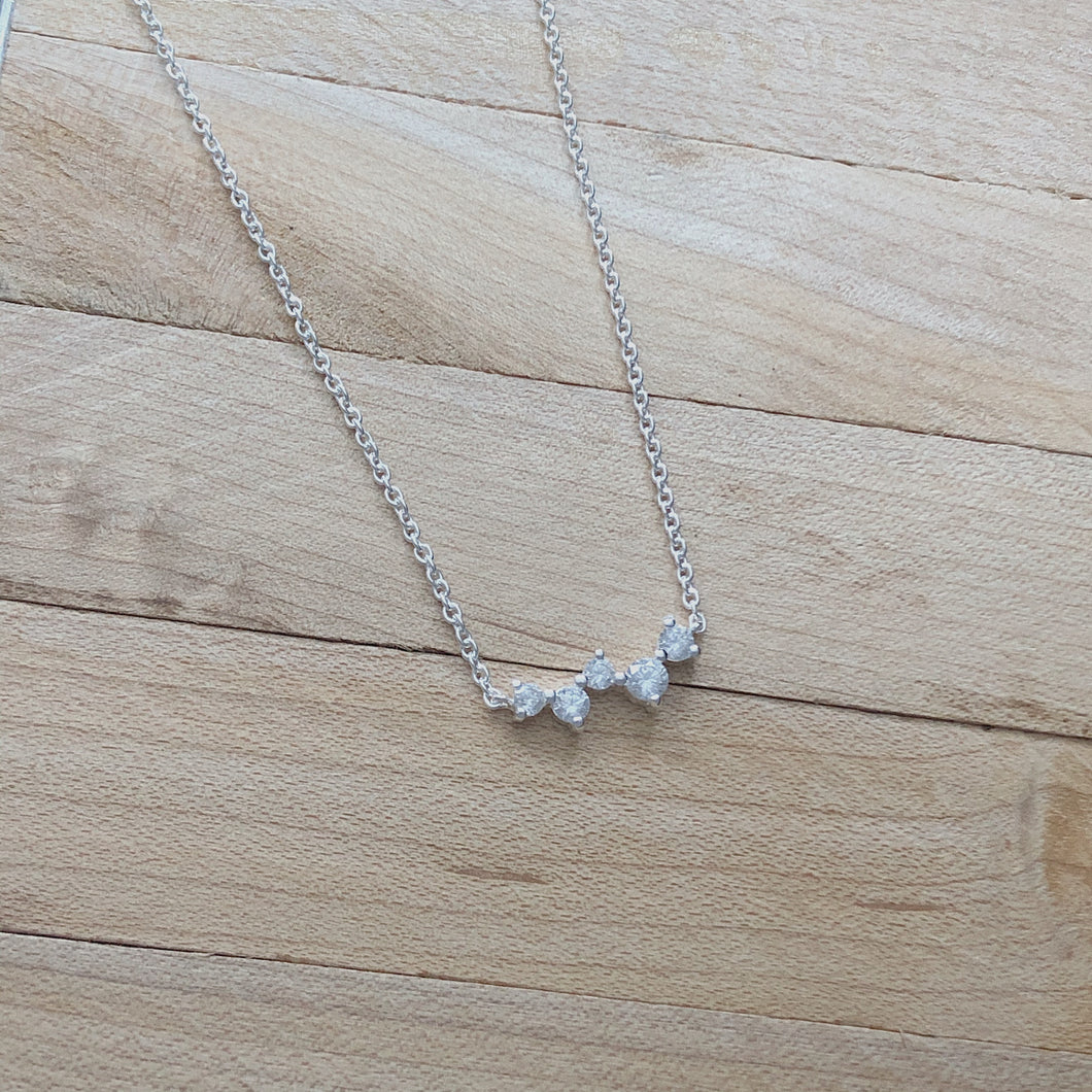CZ Cluster Necklace