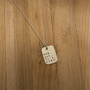 One Day at a Time | Mod Square Necklace