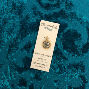 Tiny Silver and Bronze Echinacea Charm