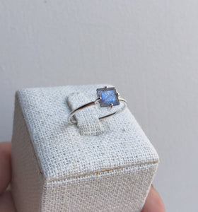 Bailey Ring | Silver & Labradorite
