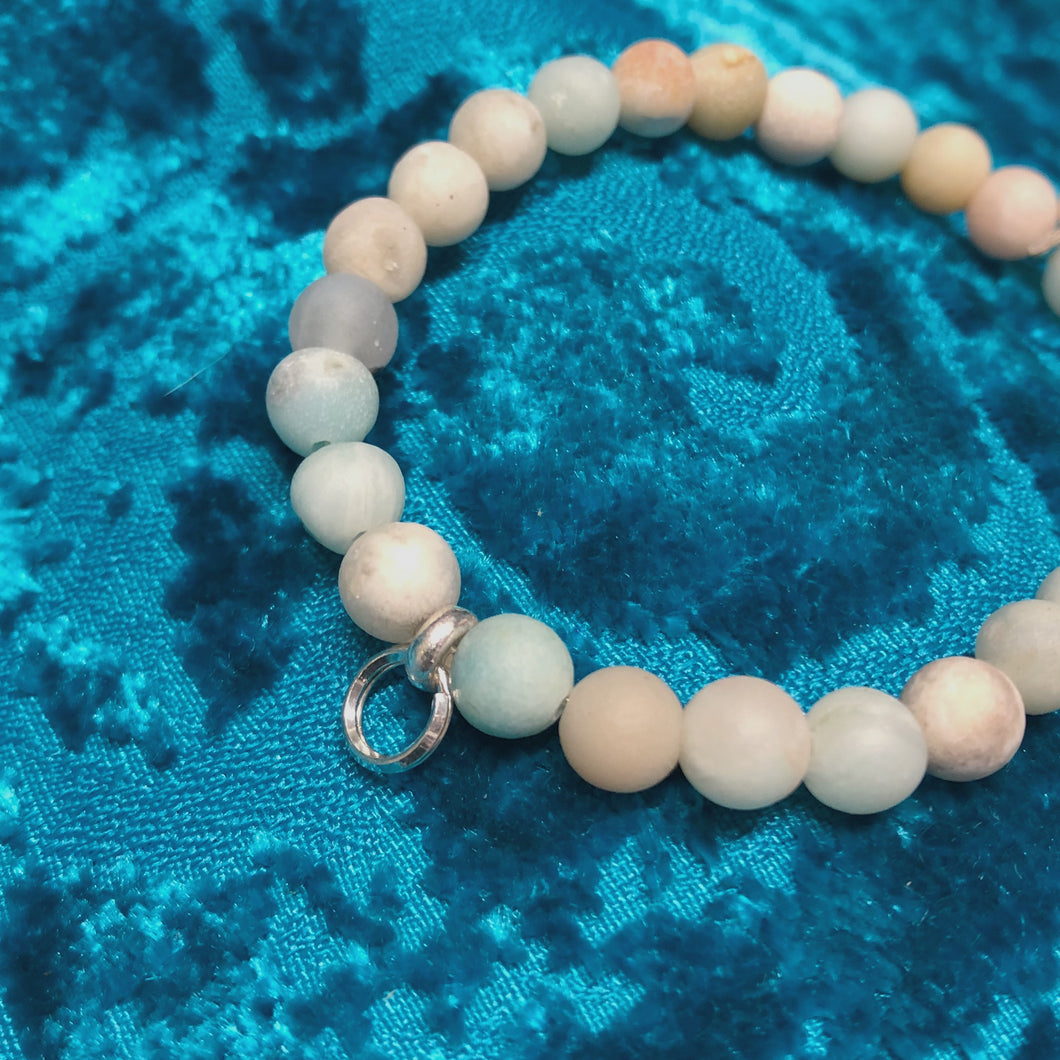 Natural Amazonite Beaded Gem Bracelet
