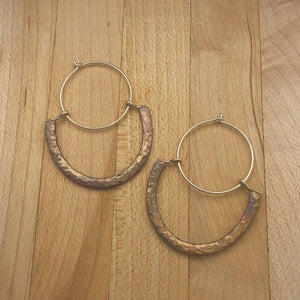 Hammered Hoop Dips | Copper & Silver