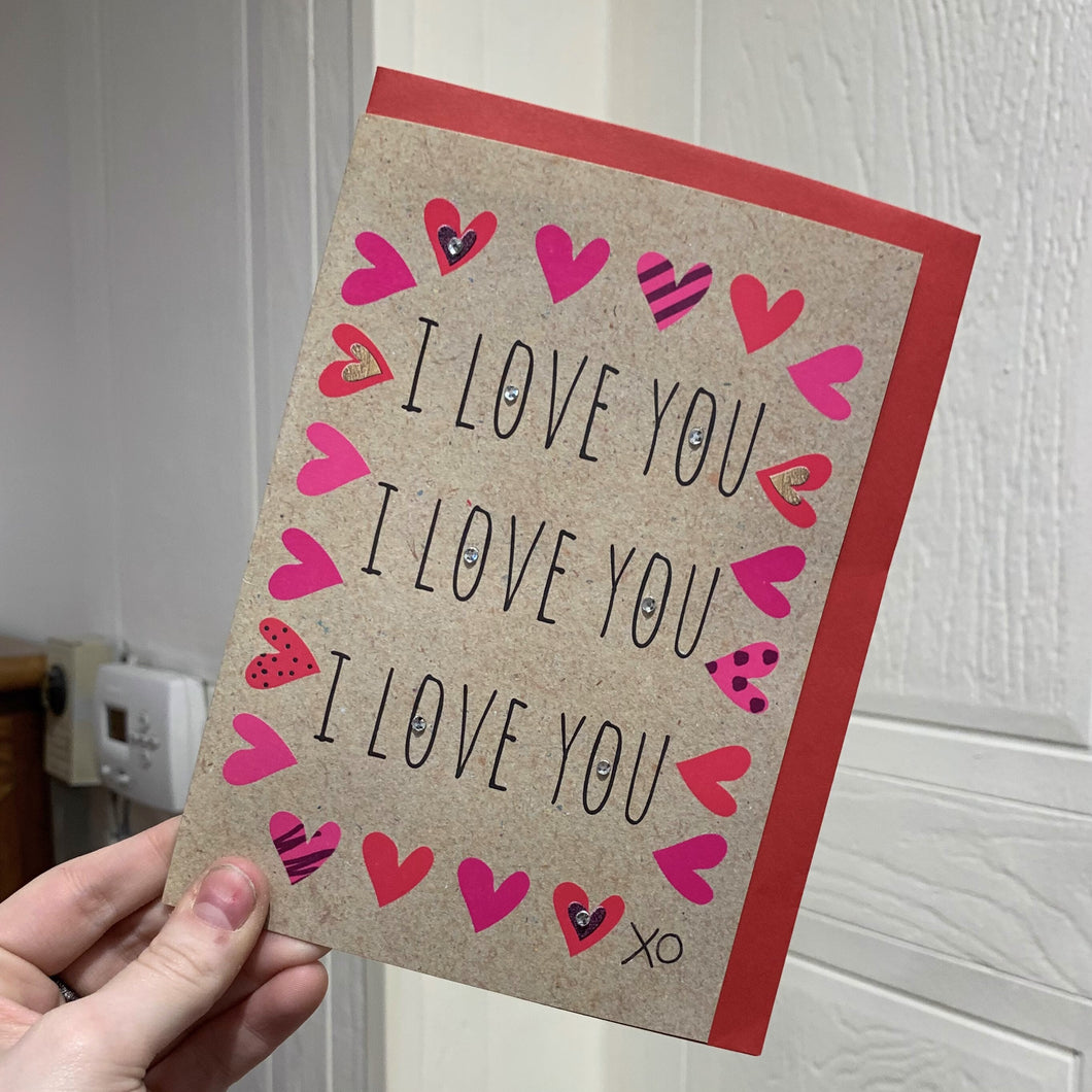 I Love You x3 | Card