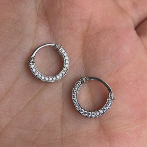 Small CZ Hoops