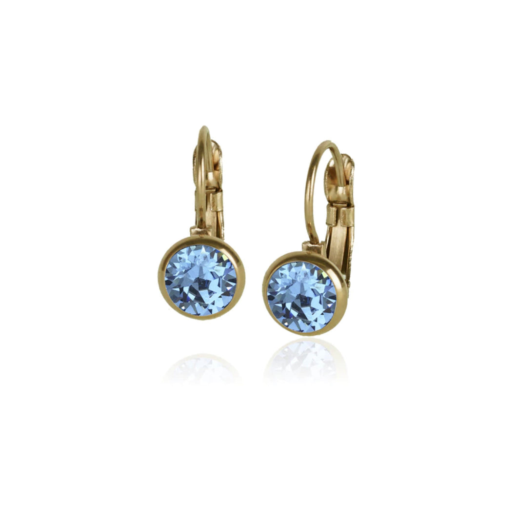 Classic Crystal Drop | Aquamarine & Gold