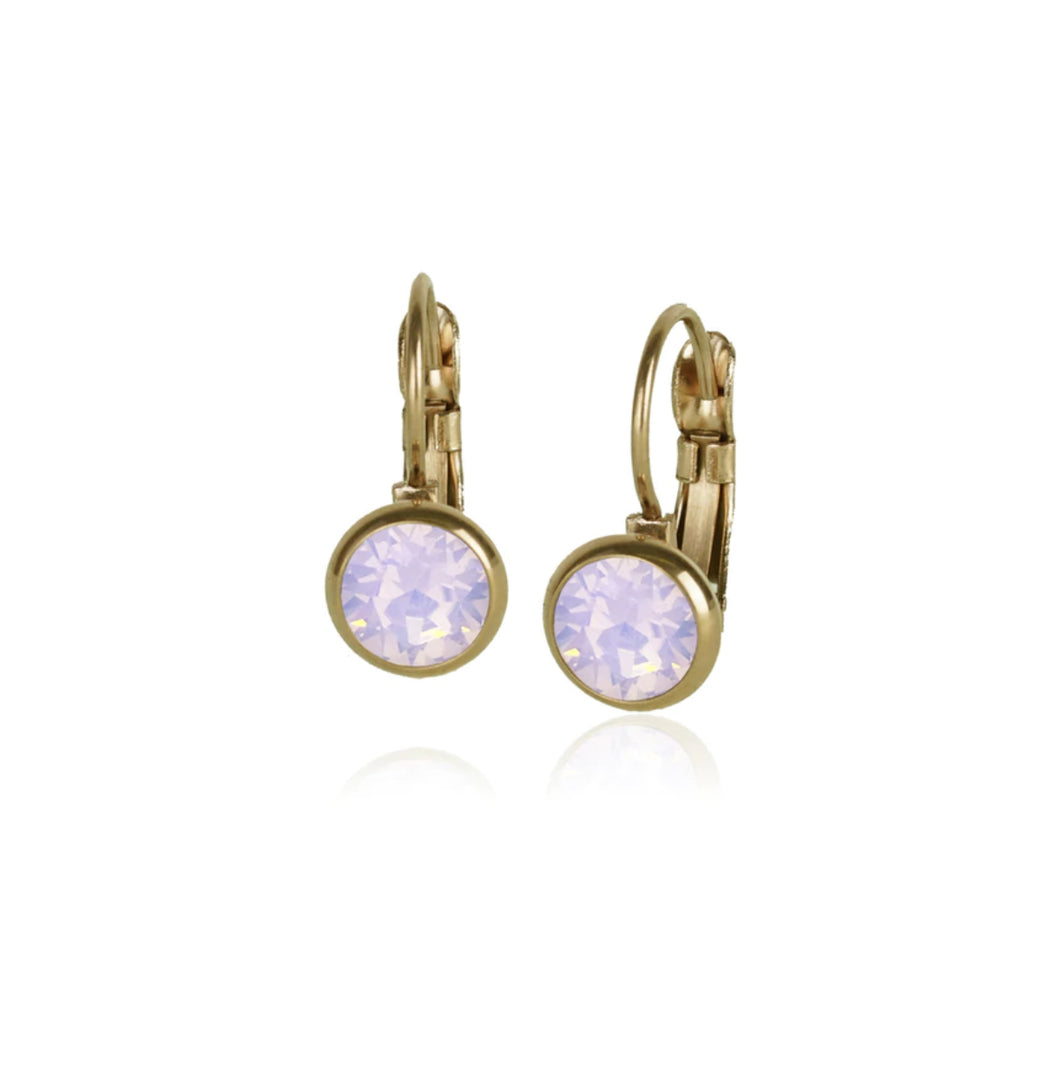 Classic Crystal Drop | Pink Opal & Gold
